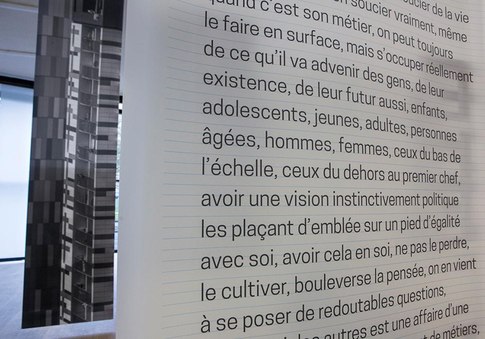 Dramaturgie des mutations, installation MC93 Bobigny
